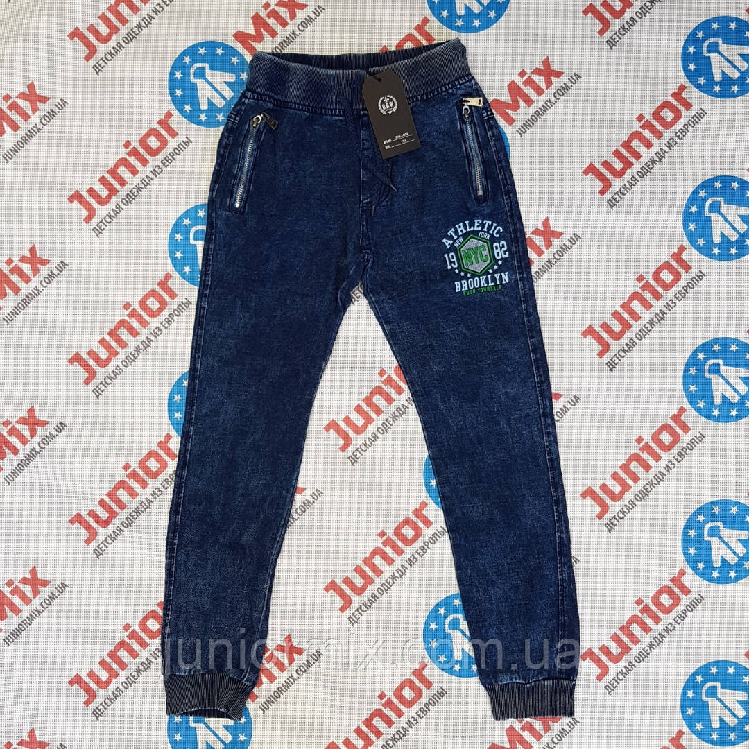 Катоновые подростковые брюки для мальчика на манжете B.B.W