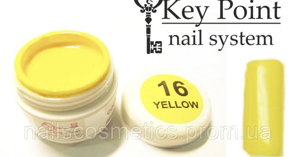 №16 Yellow гель-краска