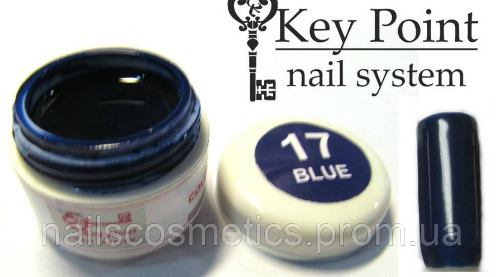 №17 Blue гель-фарба