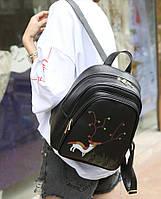 Современный городской рюкзак с принтом рогатого оленя