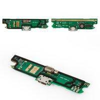 Шлейф для мобильного телефона Lenovo A830, коннектора зарядки, микрофона, с компонентами, плата зарядки