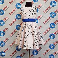 Платье нарядное на девочку в ласточки SNEKE