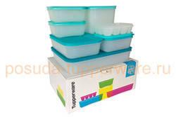 Набор охлаждающих лотков Tupperware в подарочной упаковке.Шесть контейнеров с крышками + формочка для льда.