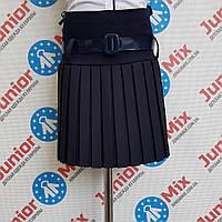 Школьная детская юбка для девочки в мелкую плисеровку  Bolbino. ПОЛЬША