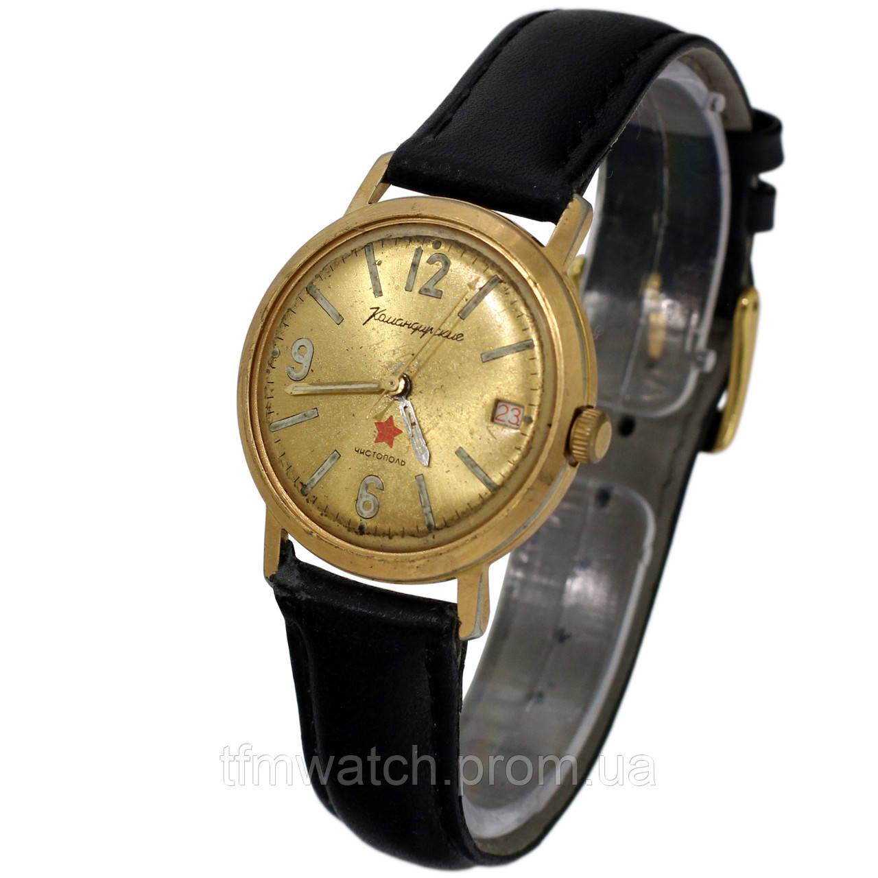 a3381d2d Позолоченные Командирские часы Чистополь заказ МО СССР противоударные  пылезащитные - Магазин старинных, винтажных и антикварных