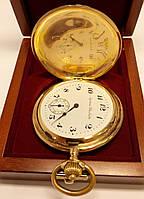 Золотые карманные часы Systeme Glashutte, 585 проба, 56 грамм.