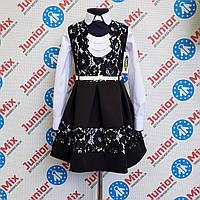 Школьный сарафан для девочки с гипюровыми вставками TYLKOMET, фото 1