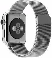 Металлический Браслет для Apple watch 38/42mm, Milanese Loop SILVER (Миланская петля)