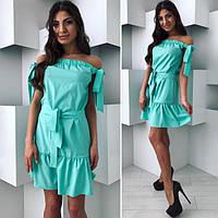Женское нежное,  воздушное,  летнее  платье  плечи  на  резинке.СЕ0308