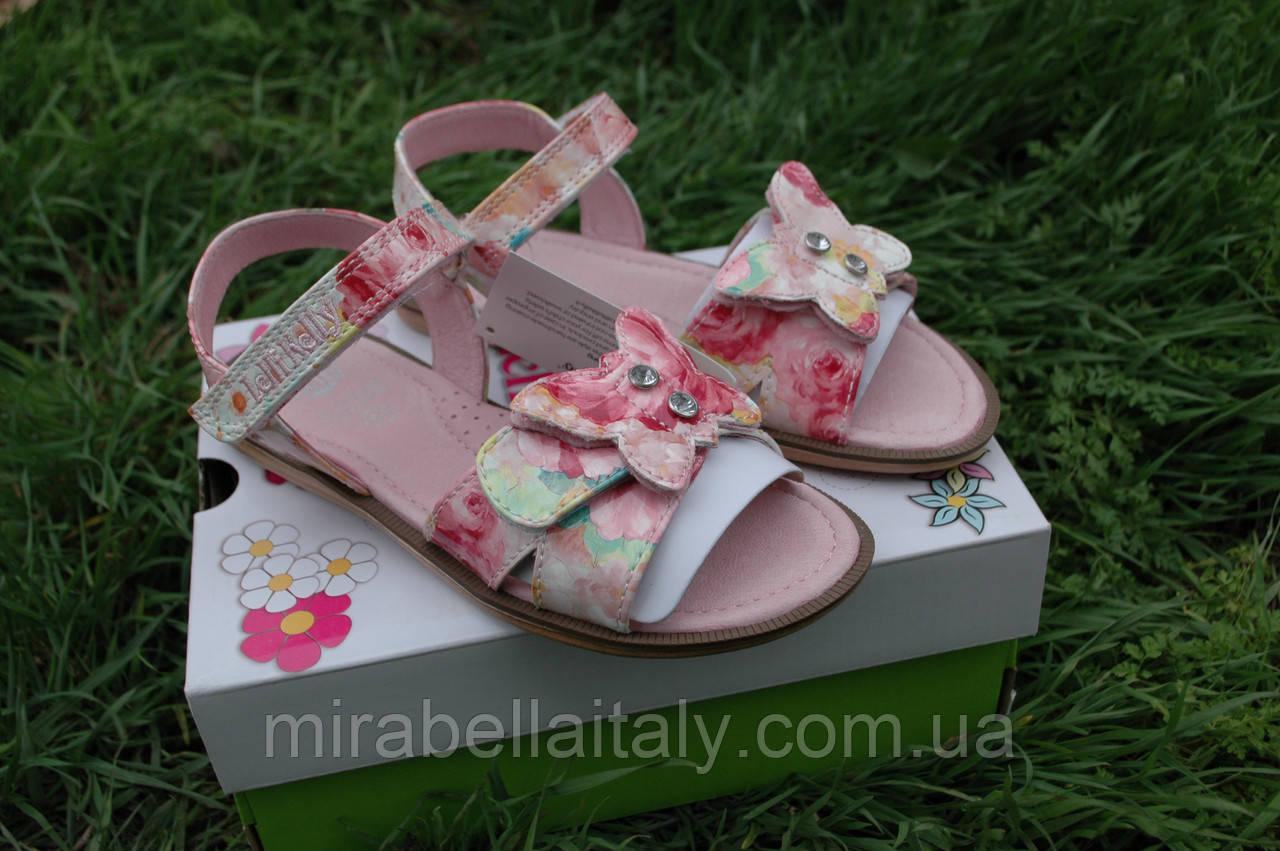 Босоножки  кожаные для девочки,Итальянские,Lelli Kelly модель  farfalla