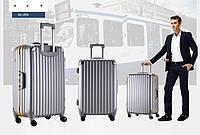 Набор из 3 серых чемоданов Ambassador® Extra Duty Metal Frame Hard case