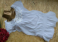 Блузка туника из хлопка 3012 белый 42-46р