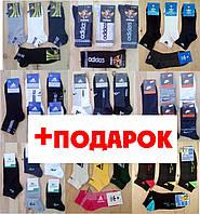 Мужские носки спортивные adidas nike lacoste puma tommy hilfiger sport фирменные качественные хлопковые