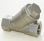 Фильтр нержавеющий резьбовой Y-обр. AISI316 Ду10 Ру40, фото 3