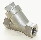 Фильтр нержавеющий резьбовой Y-обр. AISI316 Ду10 Ру40, фото 7