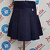 Школьная детская юбка синего цвета для девочки   ASJO.  ПОЛЬША