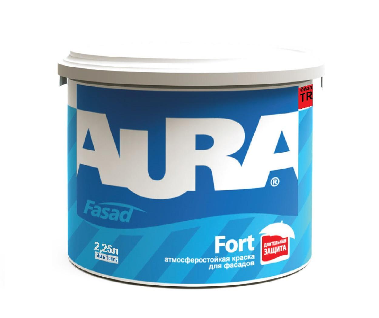 Краска силиконизированная AURA FASAD FORT фасадная база TR-транспарентная 2,25л