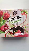 Конфеты птичье молоко с прослойкой желе из малинового сока в шоколаде Duetka Польша 400г
