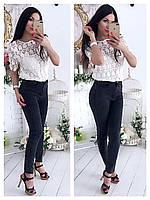 Блуза Zara (Фабричный Китай) ткань плотное кружево топ пришит