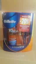 Набір Gillette Fusion Proglide верстат + гель для гоління 200 мл