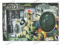 Игровой набор АС 987-5, каска, автомат 29 см, вибро, звук, свет, на батарейках, наушники, рация, часы, граната