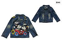 Джинсовый пиджак Mickey&Minnie Mouse унисекс. 90, 100 см