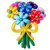 Букет из разноцветных ромашек
