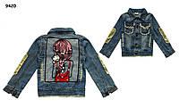 Джинсовый пиджак для девочки. 120 см