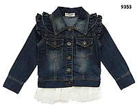 Джинсовый пиджак для девочки. 100 см
