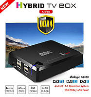 KI PRO DVB S2/T2/C - новая гибридная 4K ТВ приставка/спутниковый ресивер, Android 7.1, 2/16GB