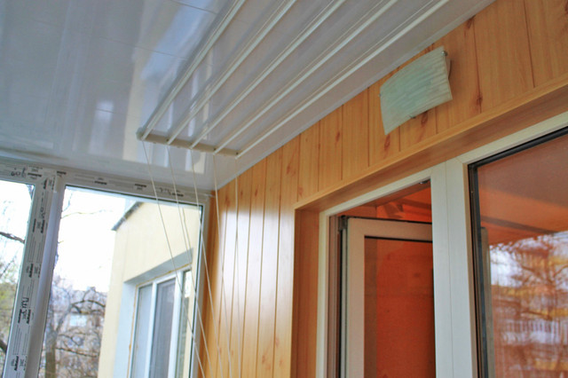 обшивка балкона внутри