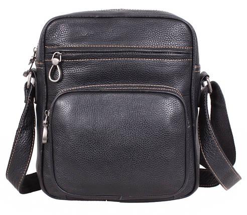 9dc735866e5d Повседневная мужская кожаная сумка через плечо черная купить в Киеве ...