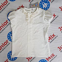 Блузка для девочки подростка  на короткий рукав AGATKA. ПОЛЬША