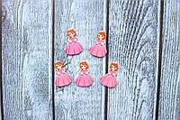 """Кабошон """"София маленькая в ярко-розовом платье"""" 2,5 х 1,8 см, 25 шт/уп. оптом"""
