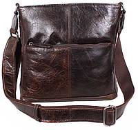 Мужская кожаная сумка через плечо цвета кофе TR-9017-3