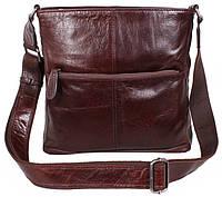 Мужская кожаная сумка через плечо коричневая TR-9017-4