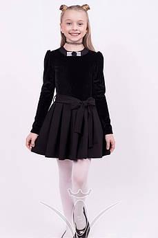 Школьное платье Бархатное Размер 128 см