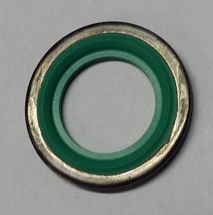 Кольцо уплотнительное 12.7 x 18 mm (прокладка резино-металлическая) трубки подачи масла к турбокомпенсатору (турбине) GM 2091080 55567827 для моторов