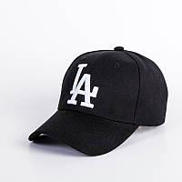 Бейсболка LA (Лос-Анджелес) Черная, Унисекс