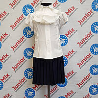 Блузка для девочки со съёмным жабо  AGATKA.
