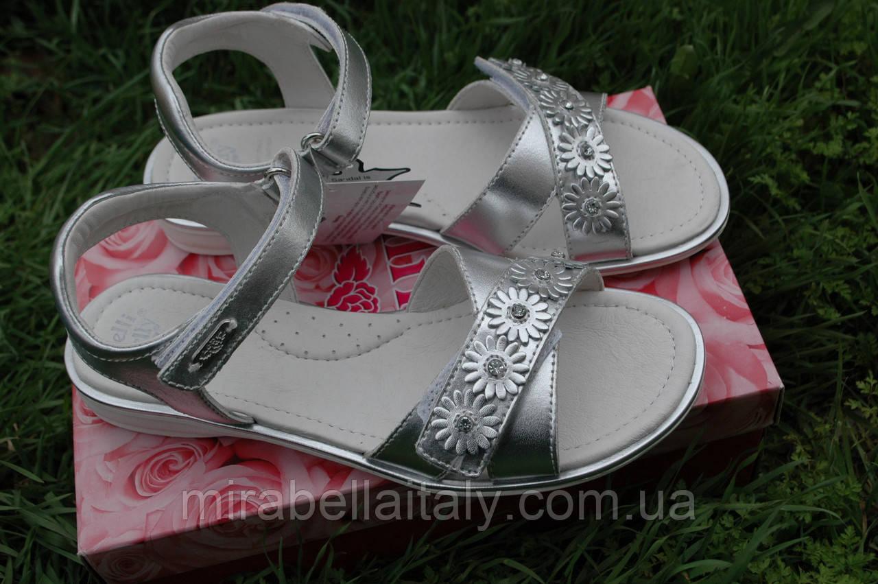 Босоножки кожаные для девочки, Италия, Lelli Kelly  модель nicole