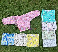 Распашонка для новорожденных 100% хлопок (кулир) 56, 62 р-р, розовая