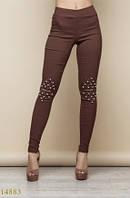 Женские брюки 14883 коричневый
