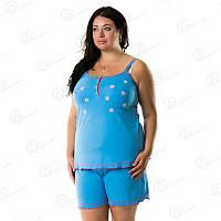 Домашний комплект женский Двойка шорты + майка батал - купить женскую пижаму батал Турция  DRM7904 домашняя одежда для дома
