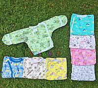 Распашонка для новорожденных 100% хлопок 56, 62 р-р, салатовая, фото 1