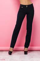 Женские брюки Хана черный принт бордо
