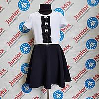 Платье на девочку комбинированное  сине-белого цвета  Alessia. ПОЛЬША
