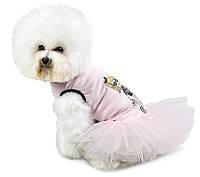 Платье для собачек Николь М (33см-37см)