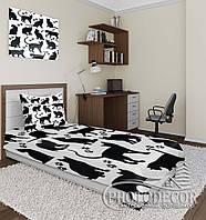 """Фото покрывало """"Черные коты"""" (2,2м*2,4м)"""