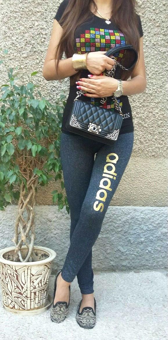 Лосины джеггинсы Adidas